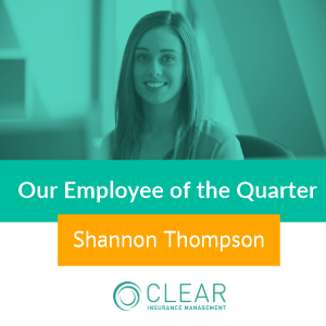 Quarter 1 Winner of our Employee of the Year Award 2018 - Shannon Thompson
