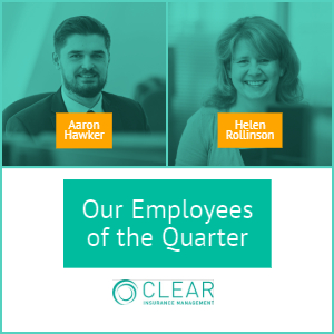 Quarter 3 winners of our employee of the year award 2018- Aaron Hawker and Helen Rollinson