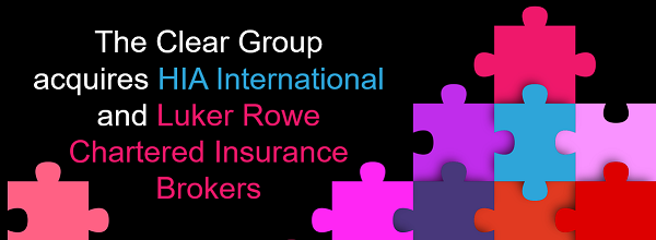 The Clear Group acquires HIA International and Luker Rowe Chartered Insurance Brokers