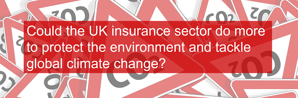 Could the UK insurance sector do more to protect the environment and tackle global climate change?