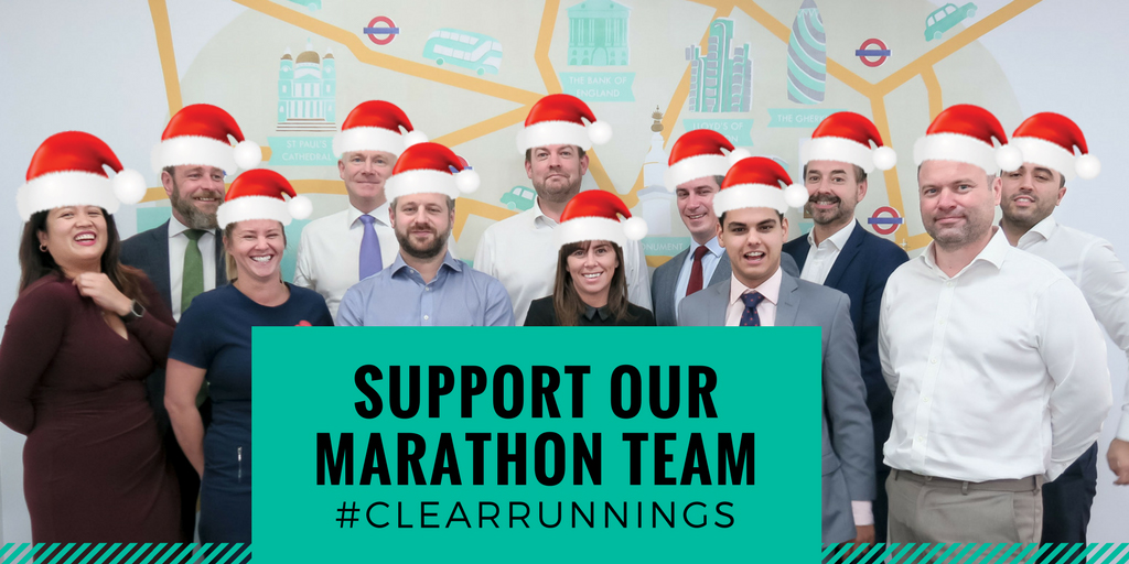 CLEAR team set to run the 2018 Virgin London Marathon for charity